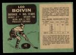 1970 O-Pee-Chee #42  Leo Boivin  Back Thumbnail