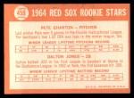 1964 Topps #459   -  Pete Charton / Dalton Jones Red Sox Rookies Back Thumbnail