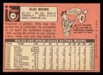 1969 Topps #149  Ollie Brown  Back Thumbnail