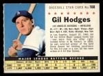 1961 Post #168 COM Gil Hodges   Front Thumbnail