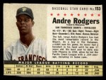 1961 Post #153 BOX Andre Rodgers  Front Thumbnail