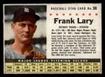 1961 Post #38 BOX Frank Lary   Front Thumbnail