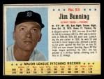 1963 Post #53  Jim Bunning  Front Thumbnail