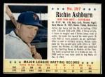 1963 Post #197  Richie Ashburn  Front Thumbnail