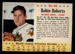 1963 Post #66  Robin Roberts  Front Thumbnail