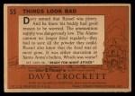 1956 Topps Davy Crockett #55   Things Look Bad  Back Thumbnail