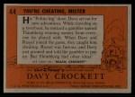 1956 Topps Davy Crockett #44   You're Cheating Back Thumbnail