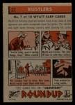 1956 Topps Round Up #37   -  Wyatt Earp Rustlers Back Thumbnail