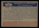1959 Fleer #13   -  Ted Williams  Shows He Will Stay Back Thumbnail