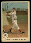 1959 Fleer #13   -  Ted Williams  Shows He Will Stay Front Thumbnail