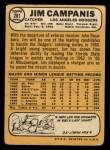 1968 Topps #281  Jim Campanis  Back Thumbnail