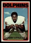 1972 Topps #240  Larry Little  Front Thumbnail