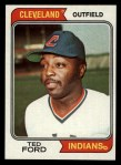 1974 Topps #617  Ted Ford  Front Thumbnail