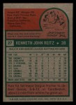 1975 Topps Mini #27  Ken Reitz  Back Thumbnail