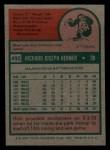 1975 Topps Mini #492  Richie Hebner  Back Thumbnail