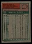 1975 Topps Mini #652  Lindy McDaniel  Back Thumbnail