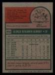 1975 Topps Mini #358  Al Bumbry  Back Thumbnail