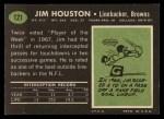 1969 Topps #121  Jim Houston  Back Thumbnail