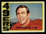 1972 Topps #220  John Brodie  Front Thumbnail