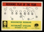 1964 Philadelphia #196   -  Bill McPeak  Redskins Play of the Year Front Thumbnail