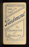 1909 T206  Jack Barry  Back Thumbnail