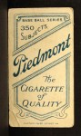 1909 T206  Dick Hoblitzell  Back Thumbnail