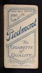 1909 T206  Ambrose Puttmann  Back Thumbnail
