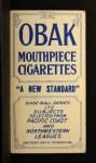 1910 T212 Obak 175 Babe Danzig  Back Thumbnail