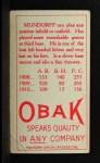 1911 T212 Obak RED Howard Mundorff  Back Thumbnail