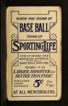 1910 M116 Sporting Life B George McQuillan  Back Thumbnail