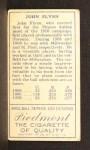 1911 T205  John Flynn  Back Thumbnail