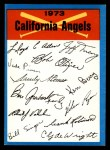 1973 Topps Blue Checklist   Angels Front Thumbnail