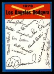 1973 Topps Blue Checklist   Dodgers Front Thumbnail