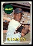 1969 Topps #555  Jim Hart  Front Thumbnail