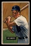 1951 Bowman #176  Vic Wertz  Front Thumbnail