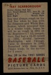 1951 Bowman #39  Ray Scarborough  Back Thumbnail