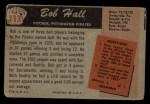 1955 Bowman #113  Bob Hall  Back Thumbnail
