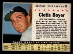 1961 Post #11  Clete Boyer   Front Thumbnail