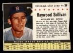 1961 Post #56 BOX Haywood Sullivan   Front Thumbnail