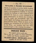 1947 Goudey Indian Gum #83   Trailing Prairie Schooner Back Thumbnail