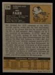 1971 Topps #236  Mel Farr  Back Thumbnail