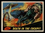 1962 Topps / Bubbles Inc Mars Attacks #12   Death in the Cockpit  Front Thumbnail