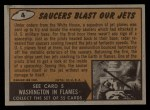 1962 Topps / Bubbles Inc Mars Attacks #4   Saucers Blast Our Jets Back Thumbnail