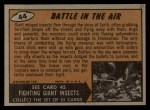 1962 Topps / Bubbles Inc Mars Attacks #44   Battle in the Air  Back Thumbnail