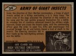 1962 Topps / Bubbles Inc Mars Attacks #39   Army of Giant Insects  Back Thumbnail