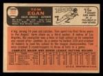 1966 Topps #263  Tom Egan  Back Thumbnail