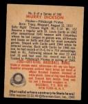 1949 Bowman #8  Murry Dickson  Back Thumbnail