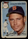 1954 Topps #19 WHT John Lipon  Front Thumbnail