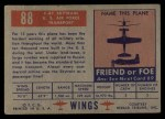 1952 Topps Wings #88   C-47 Skytrain Back Thumbnail