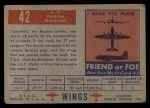 1952 Topps Wings #42   IL-12 Back Thumbnail
